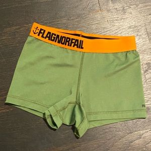 Flag Nor Fail Compression Short Military Green